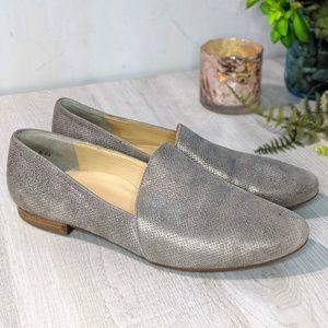 Paul Green Metallic Slip On Loafer Flats